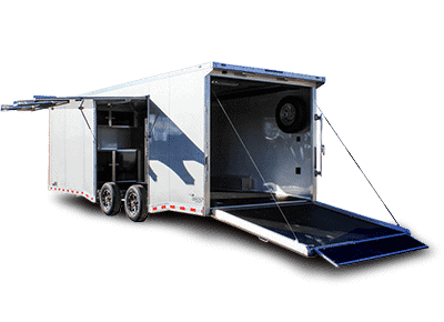 encloded cargo trailer